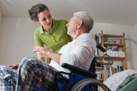 Care worker caring