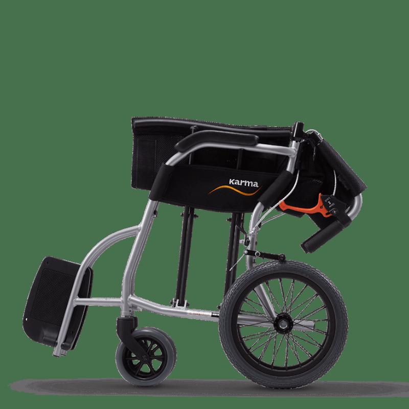 Ergo Lite Transit Wheelchair - Folded