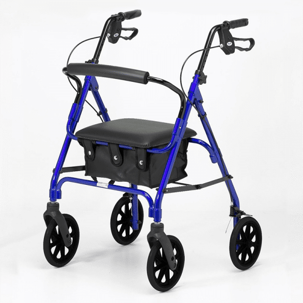 Four Wheeled Rollator - Blue