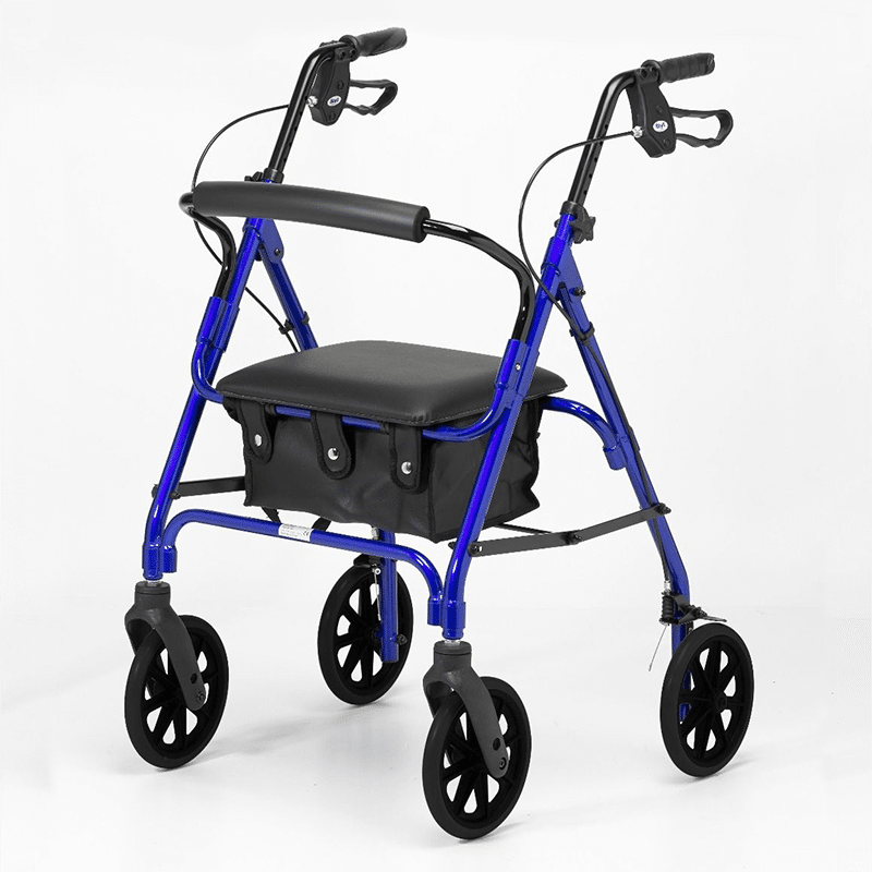 Four Wheeled Rollator - Blue
