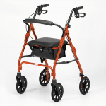 Four Wheeled Rollator - Orange