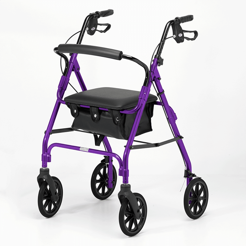 Four Wheeled Rollator - Purple