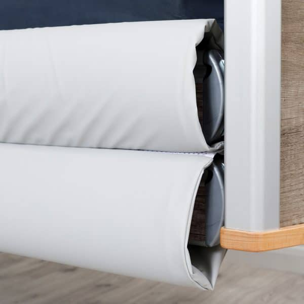 Solace Mesh Siderail Bed Bumpers - Close-up closed