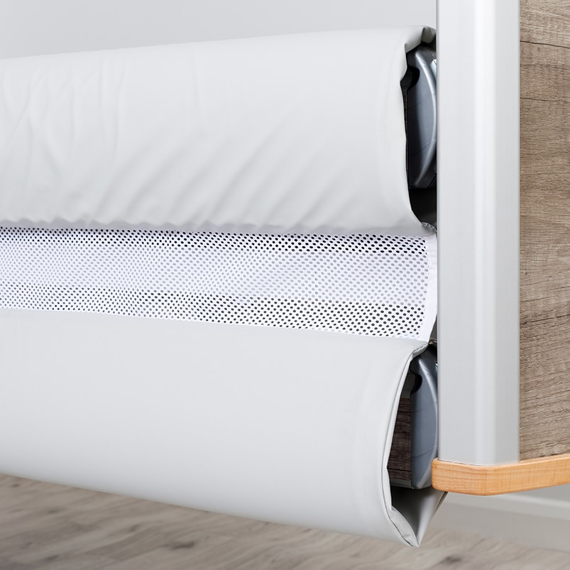 Solace Mesh Siderail Bed Bumpers - Close-up open