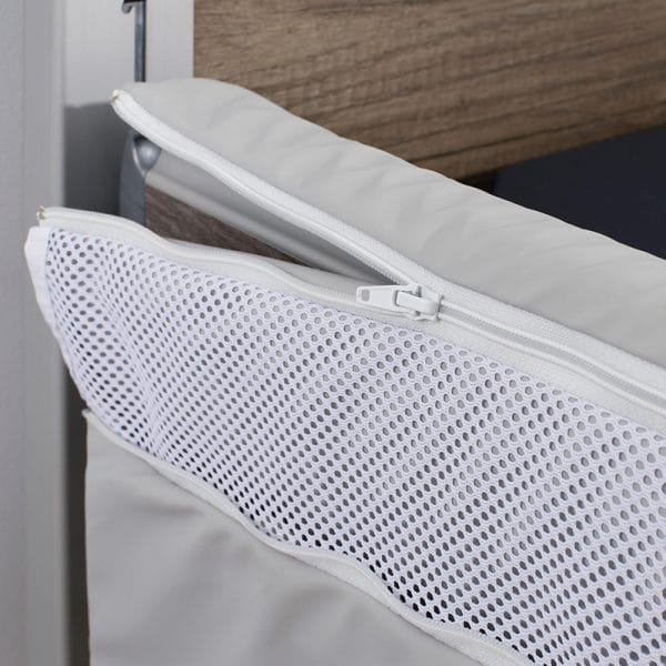 Solace Mesh Siderail Bed Bumpers - Zipper
