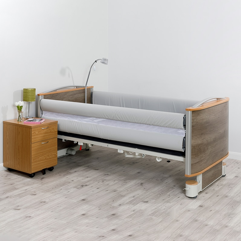 Solace Mesh Siderail Bed Bumpers - on the bed