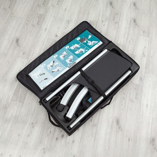 Raizer M carry bag kit open