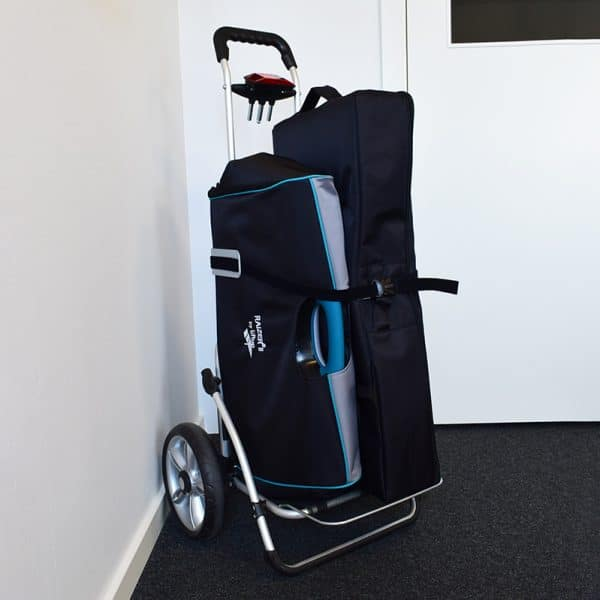 Raizer Trolley in use carry bags vertical
