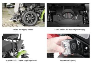 Juvo B5 B6 Powerchair Features