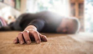 fallen man on the floor