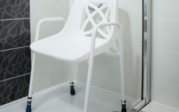 Static Shower Chair in shower tray