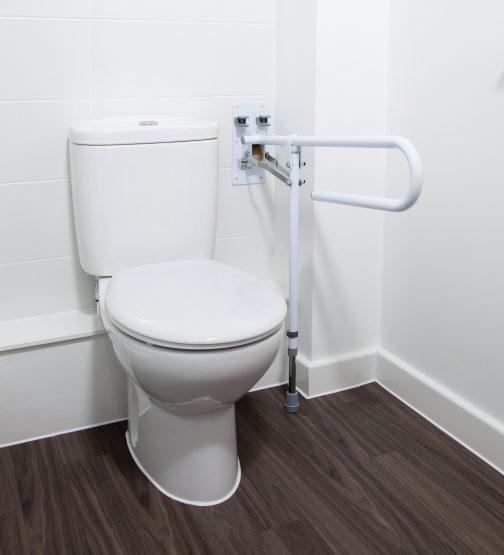 Fold Away Grab Rail, next to toilet