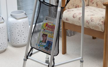 Net Bag, attached to a walking frame