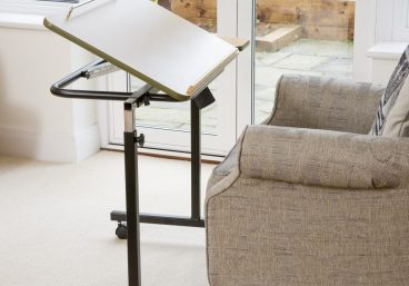 Daleside Table, tilted open 45 degrees