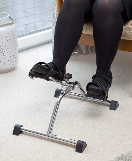 Give your legs a workout on our bicycle-like pedal exerciser