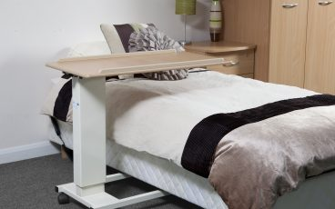 Easy Rise Overbed table at full height