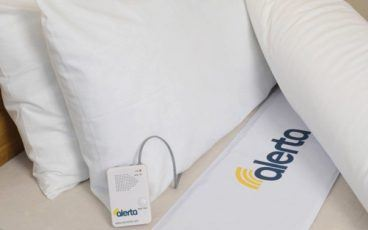 Alert mat in a bed