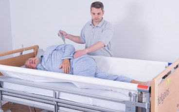 Turn a patient in bed with zero manual handling